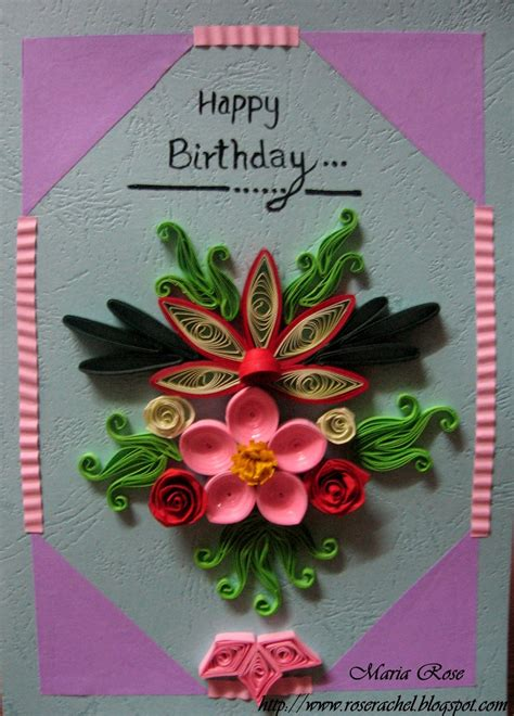 how to make paper cards for birthday leisure space quillled birthday card