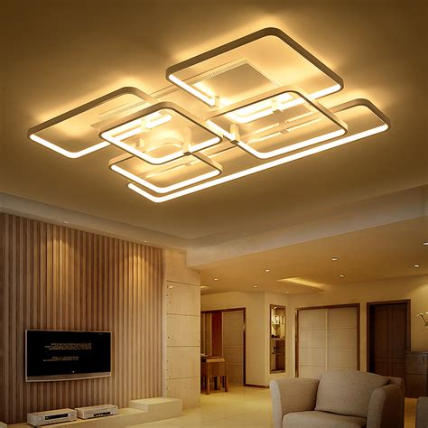 led ceiling lights for home square surface mounted modern led ceiling lights for
