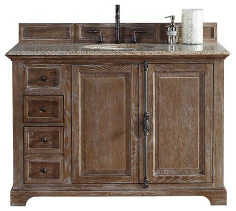 driftwood bathroom vanity providence 48 quot single vanity cabinet driftwood