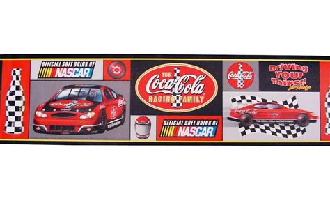 Nautical Wall Murals coca cola nascar wallpaper border