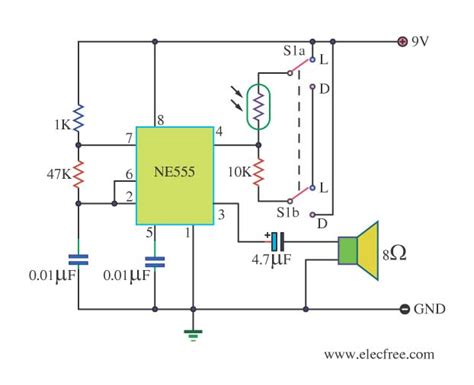 lights circuit four light sensor alarm circuits eleccircuit