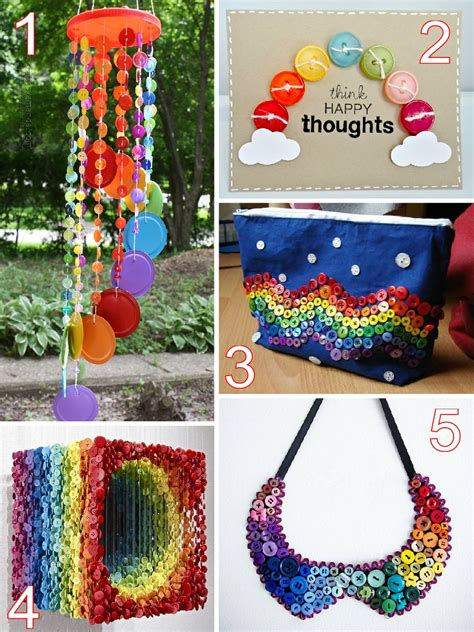 designs to make 23 rainbow button crafts the scrap shoppe