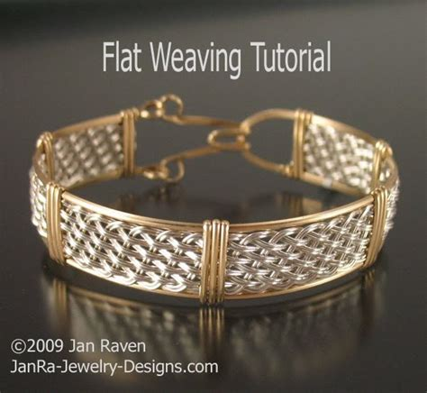 how to make wire weave jewelry woven wire jewelry and other creative endeavors flat