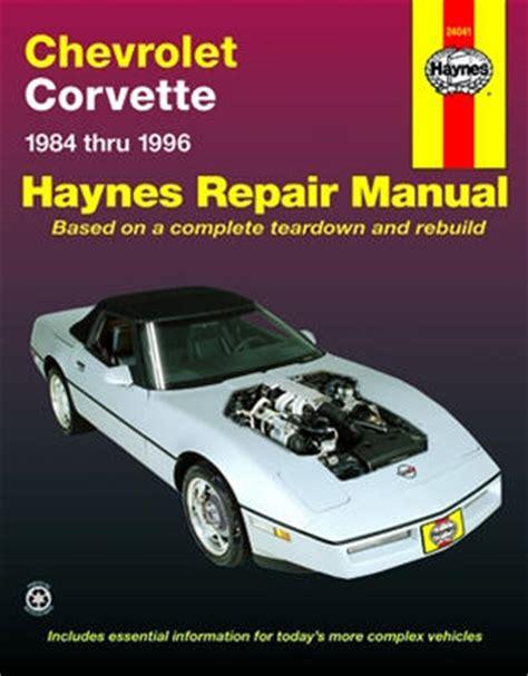 car maintenance manuals 1968 chevrolet corvette auto manual 1984 1996 chevrolet corvette haynes repair manual