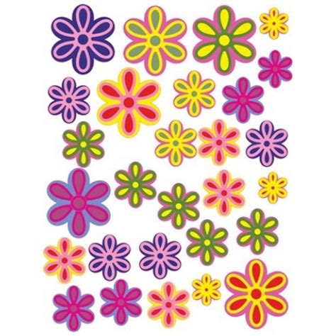 Flower Wall Stickers For Bedrooms colour printed flower stickers design amp print stickers