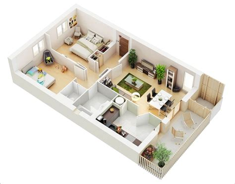 Christmas Home Design Inspiration 10 awesome two bedroom apartment 3d floor plans