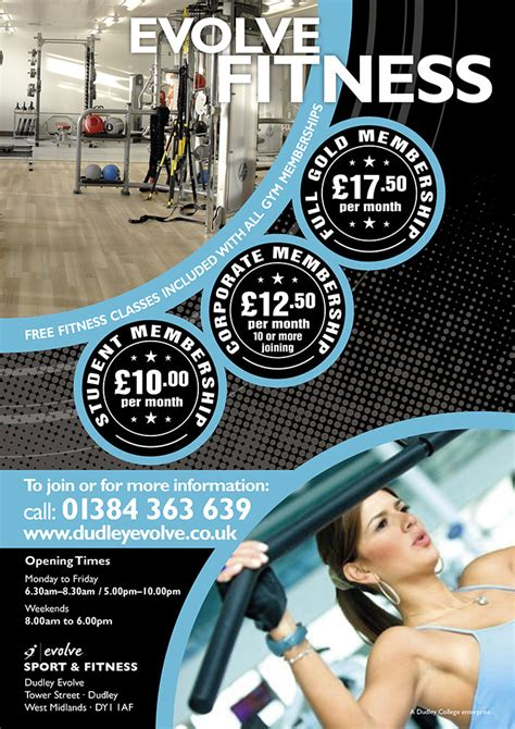 fitness flyer template leaflet design evolve creative surge