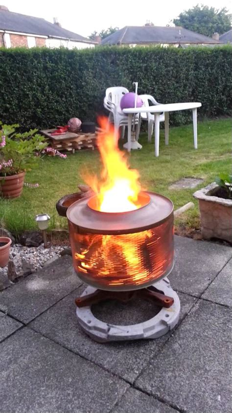 washing machine firepit washing machine firepit transform an washer drum into an