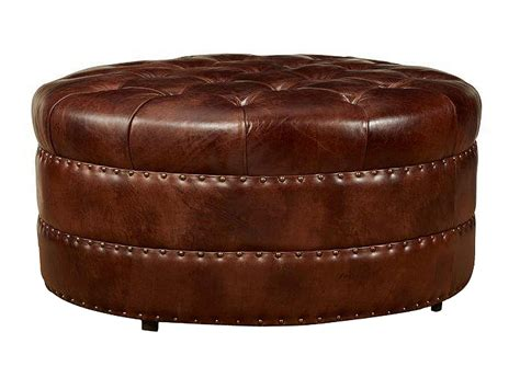 leather ottomans lockwood quot ship quot tufted leather ottoman