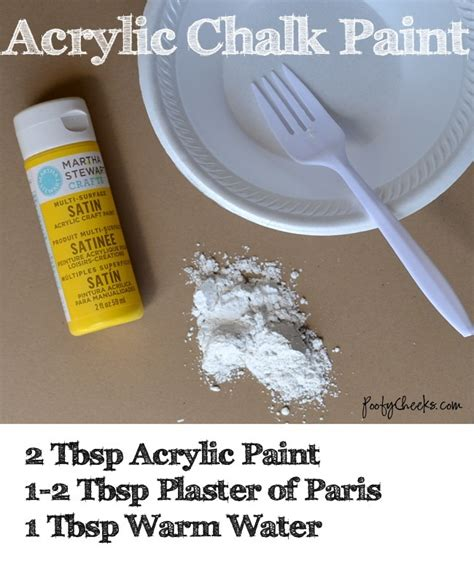 chalk paint on plastic poofy cheeks acrylic chalk paint