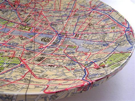 map decoupage decoupage map bowl maptastic