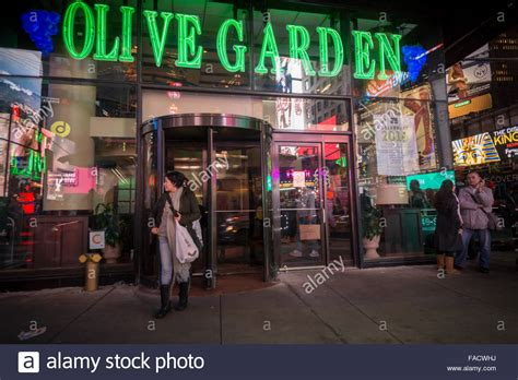 the olive garden new york an olive garden restaurant in times square in new york is seen on stock photo royalty free