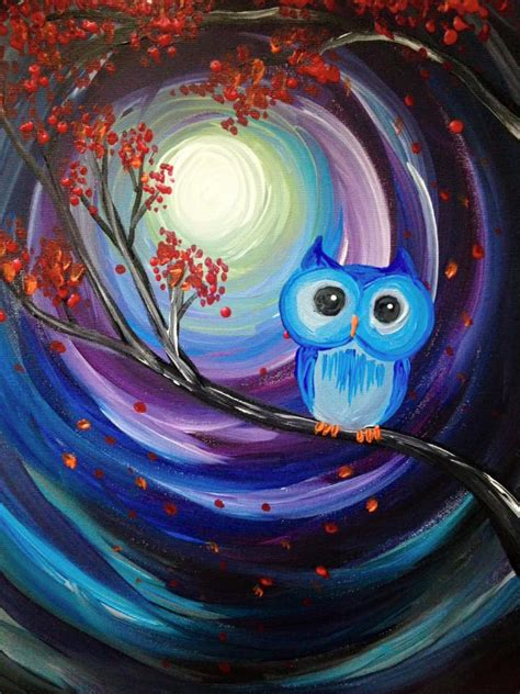 paint nite owl by farina paint nite