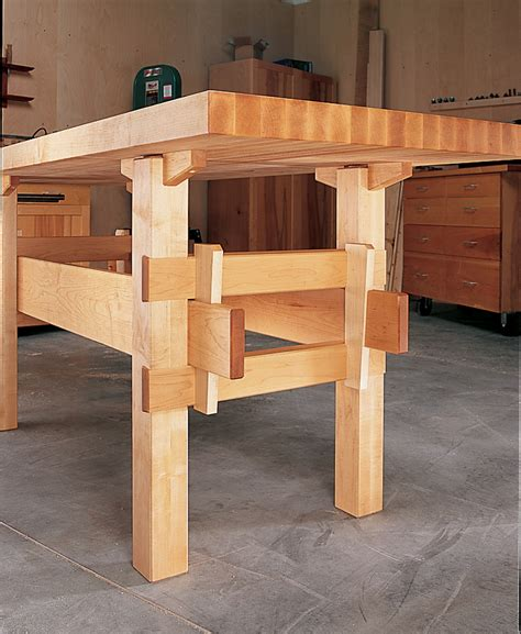 american woodworking wedged base workbench popular woodworking magazine
