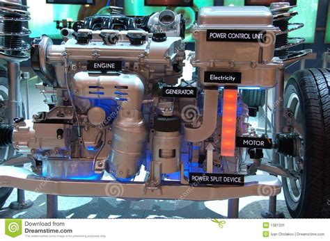 Electric Engine by Hybrid Gas Electric Engine Stock Image Image Of Diagram