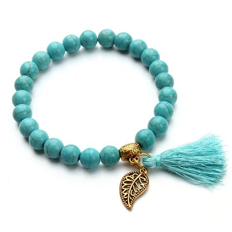 turquoise bead bracelet aliexpress buy 2017 bohemia bead