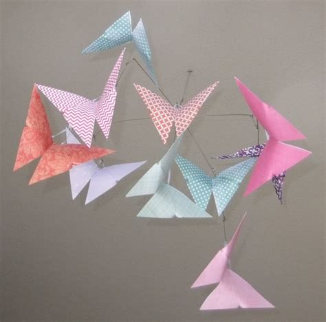 origami butterfly pattern patterned whimsy origami butterfly mobile aftcra