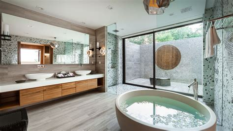 Spa Style Bathroom by 7 Villa Bathrooms With Spa Like Ambience