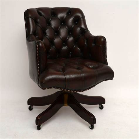 Antique Desk Chairs Swivel by Antique Buttoned Leather Swivel Desk Chair