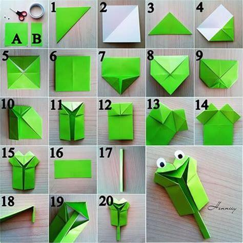 katak origami berbagai cara membuat origami kodok atau katak gt do it
