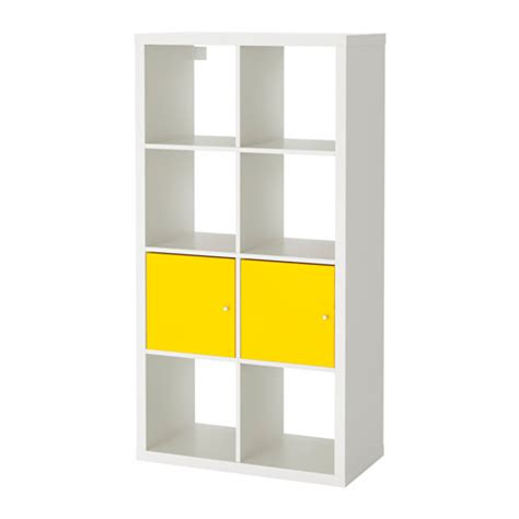 shelving unit with doors kallax shelving unit with doors white yellow ikea