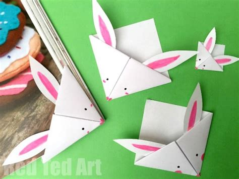 easy craft ideas with paper easy paper bunny bookmark ted s