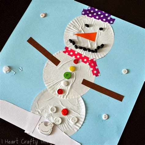 snowman craft i crafty things cupcake liner snowman craft