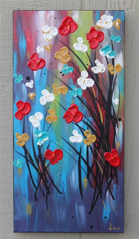 acrylic painting flowers canvas 25 best ideas about acrylic painting flowers on
