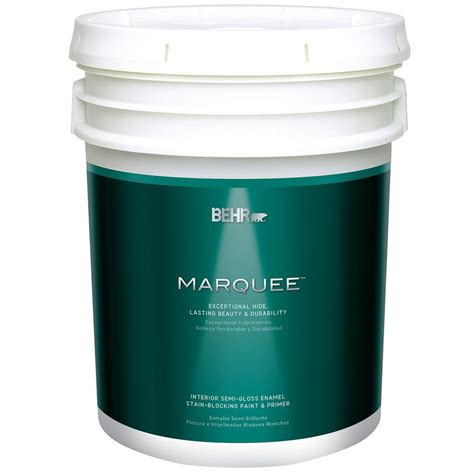 behr paint colors interior with primer behr marquee 5 gal ultra white semi gloss enamel
