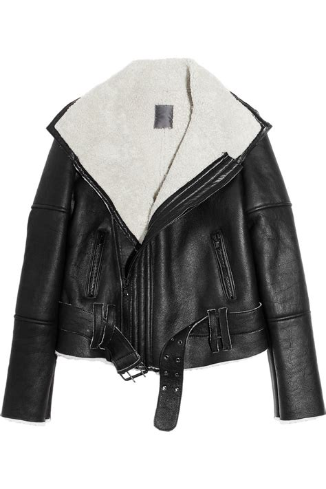 leather and shearling jacket shearling jackets thebestfashionblog