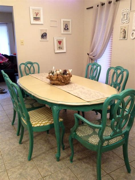 turquoise dining set antique 1960s turquoise dining table and chairs painted