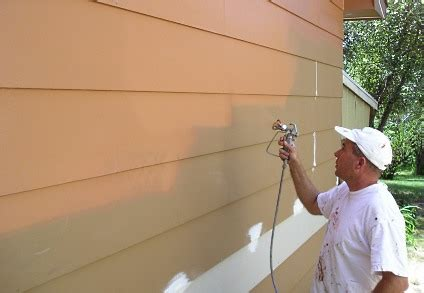 spray painting house professional exterior painting information