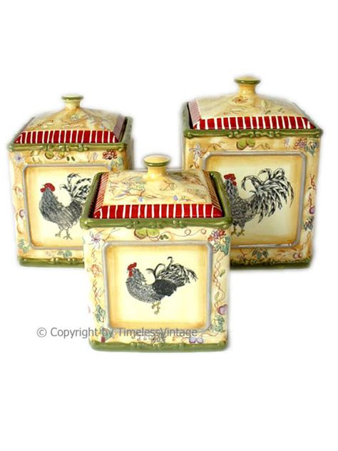 country kitchen canisters sets rooster country kitchen canisters set american atelier