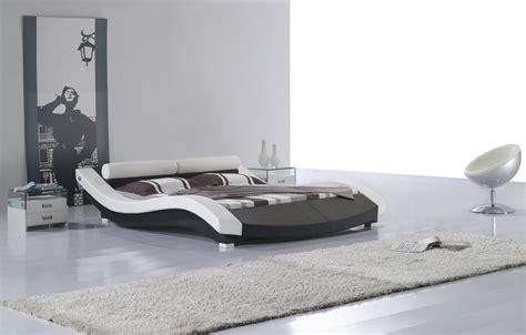modern style beds vilenno size modern style leather platform