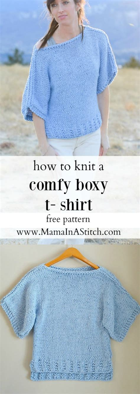 knit patterns free beginner easy knit boxy t shirt quot quot pattern in a stitch