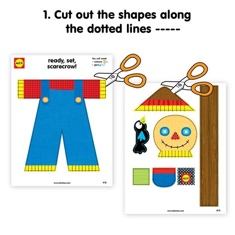 for preschoolers to make thanksgiving crafts make a scarecrow printable