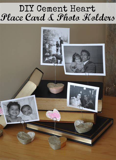 make place card holders diy cement place card and photo holders is a