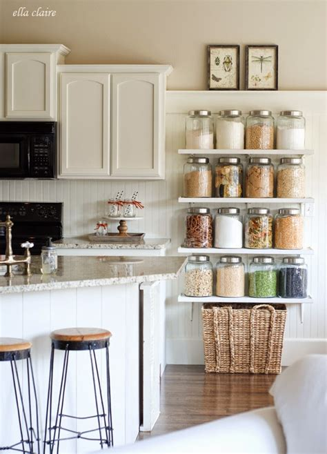 diy kitchen shelving ideas diy country store kitchen shelves more pantry space