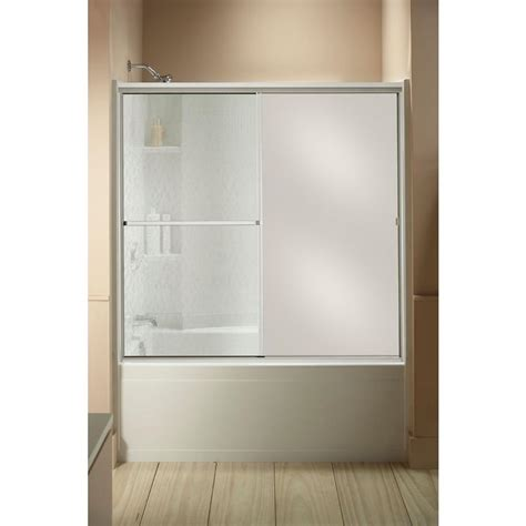 sliding shower doors home depot sterling standard 59 in x 56 7 16 in framed sliding tub