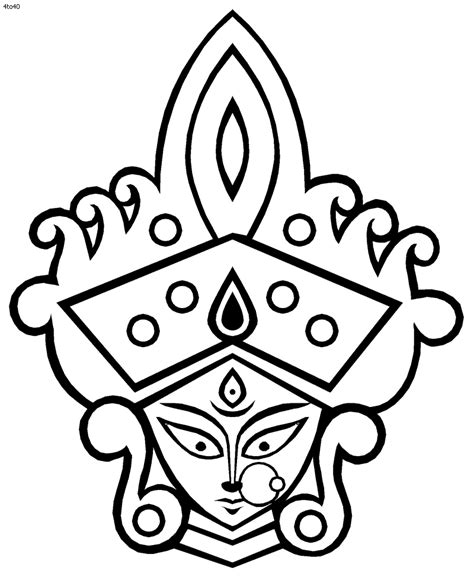 paint tool sai grayscale to color durga devi clipart black and white clipart best