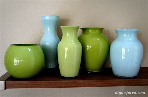 coloured for vases painted colored glass vases diy inspired