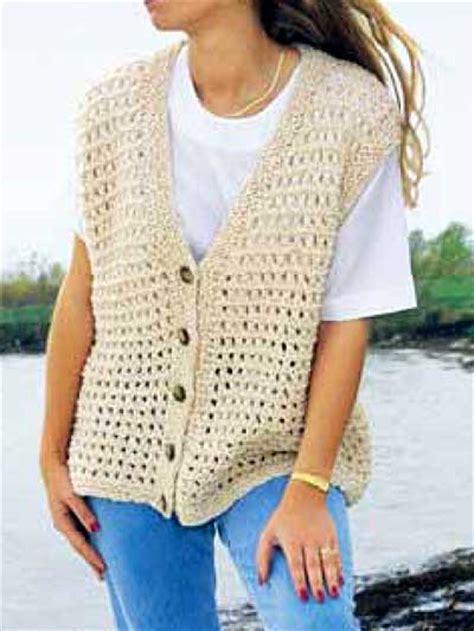 easy knit vest for beginners free vest knitting patterns summer time vest