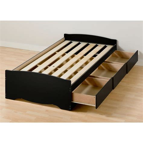 xl platform storage bed xl platform bed frame with 3 storage drawers in black