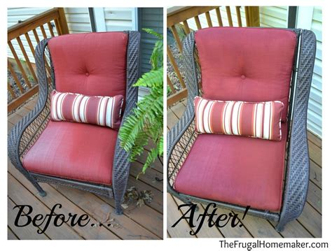 spray painting outdoor cushions faded chair cushions refreshed with spray paint