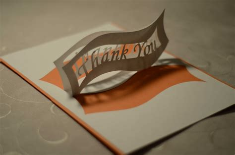 how to make pop up thank you cards thank you pop up card ribbon tutorial creative pop up cards
