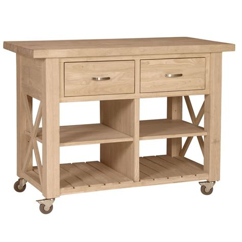 kitchen island rolling x side rolling kitchen island with butcher block top
