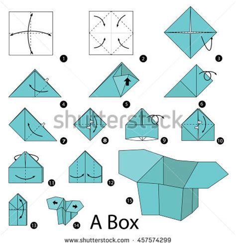 origami box step by step origami insect cicada steps stock
