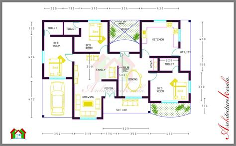 home design story room size 3 bed room house plan with room dimensions architecture