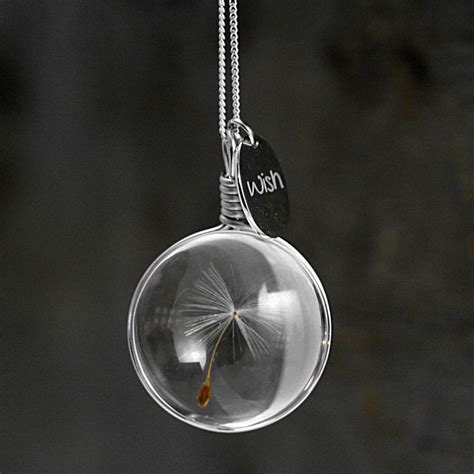 what is jewelry dandelion wish necklace so that s cool