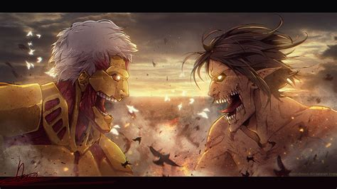 on titan armored titan vs rogue titan 27 wallpaper hd